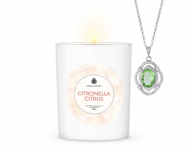Citronella Citrus Signature Jewelry 10oz Necklace Candle