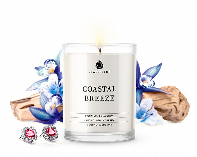 Signature Coastal Breeze Jewelry 10oz Candle