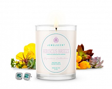 Signature Hibiscus Breeze Jewelry Candle