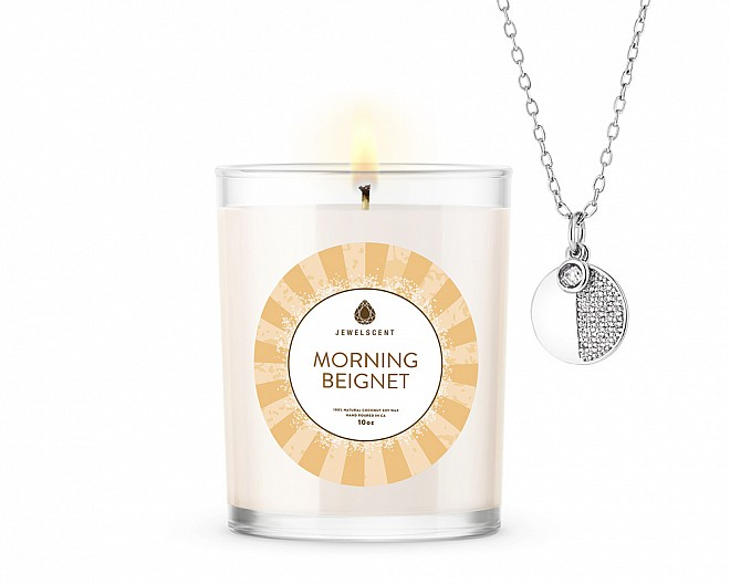 Morning Beignet Signature Jewelry 10oz Necklace Candle