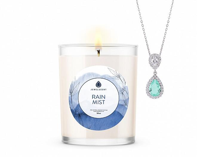 Rain Mist Signature Jewelry 10oz Candle