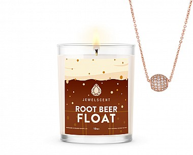 Root Beer Float Jewelry Signature Necklace 10oz Candle