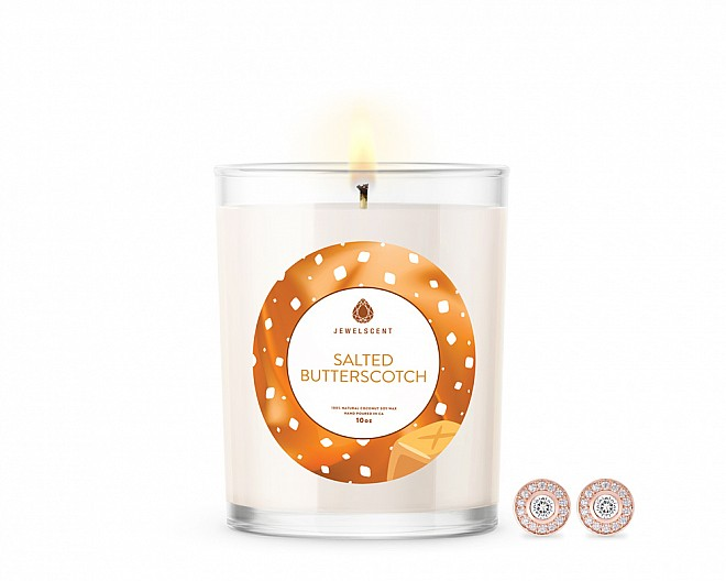 Salted Butterscotch Signature Jewelry 10oz Earrings Candle