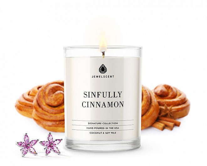 Signature Sinfully Cinnamon Jewelry 10oz Candle
