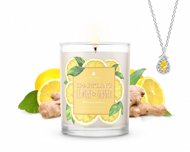 Signature Sparkling Lemon & Ginger Jewelry Candle