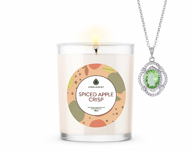 Spiced Apple Crisp Signature Jewelry 10oz Necklace Candle