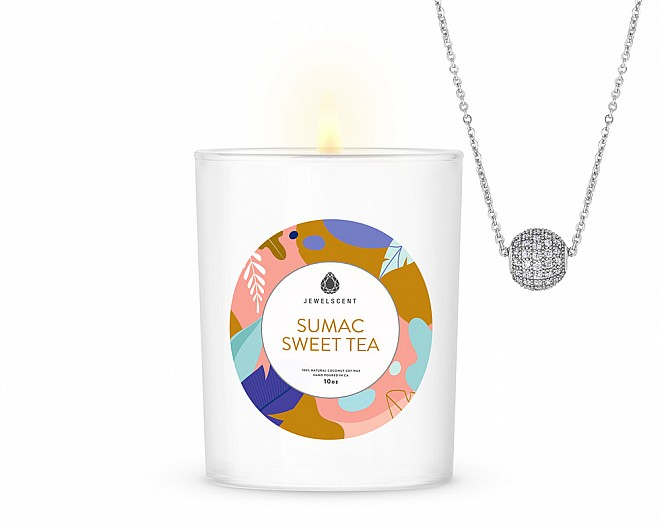 Sumac Sweet Tea Signature Jewelry 10oz Necklace Candle