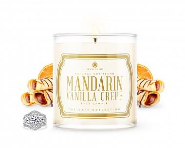LUXE Mandarin Vanilla Crepe Jewelry Candle