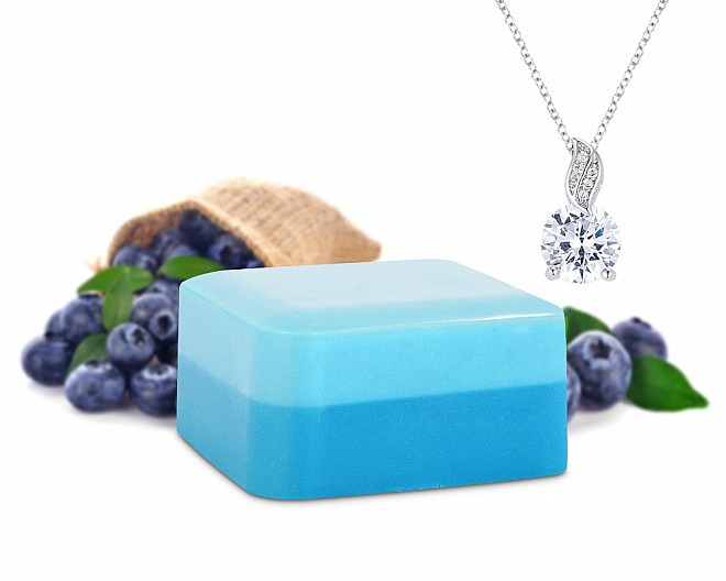 Be Merry Berry Shea Butter Necklace Soap Bar