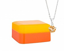 Orange Cranberry Shea Butter Jewelry Necklace Soap Bar