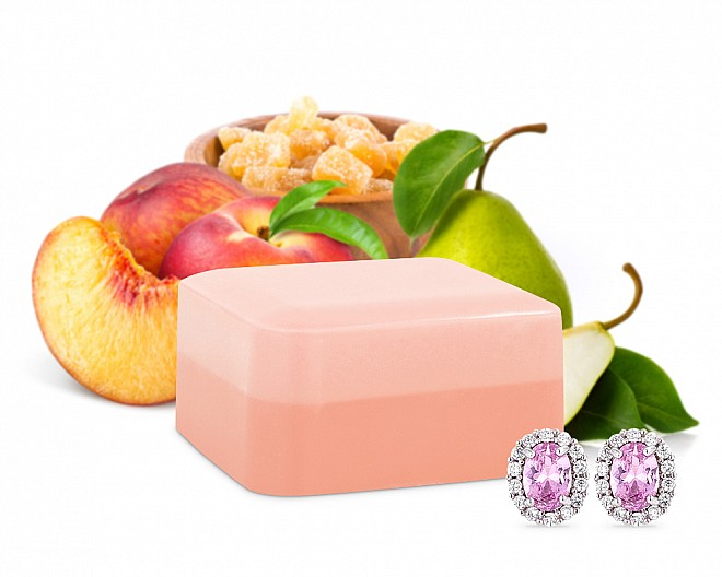 Peach Bum Shea Butter Jewelry Soap Bar