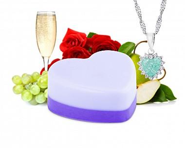 Pear-fect Match Shea Butter Jewelry Soap Bar