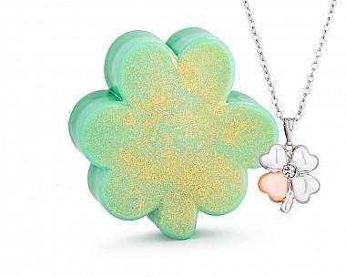 Shamrock Shea Butter Jewelry Necklace Soap Bar