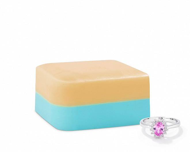 Vanilla Custard Shea Butter Jewelry Ring Soap Bar
