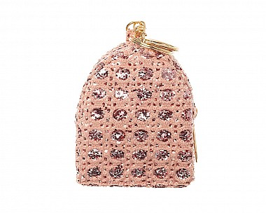 Sparkly Rose Gold Glitter Mini Bag Purse Charm