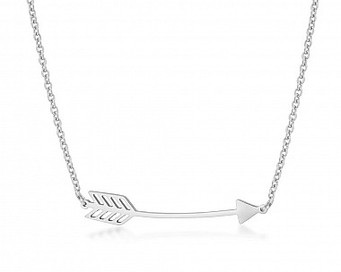 Modern Stainless Steel Arrow Necklace