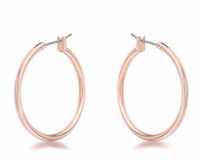 Everyday Rose Gold Hoop Earrings