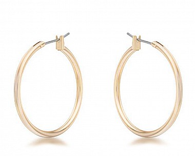Everyday Goldtone Hoop Earrings