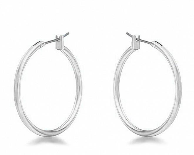 Everyday Silvertone Hoop Earrings
