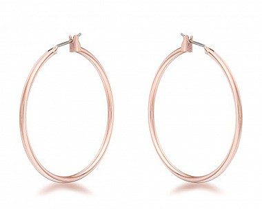 Lucia Rose Gold Tone Medium Hoop Earrings