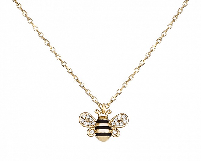 18k Gold Plated Teeny Tiny Bee Necklace