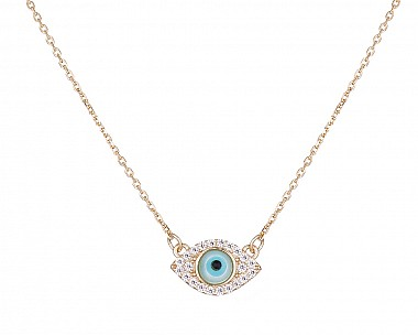 Dainty Golden Protective Eye Necklace