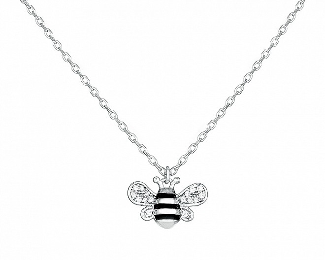Sterling Silver Teeny Tiny Bee Necklace