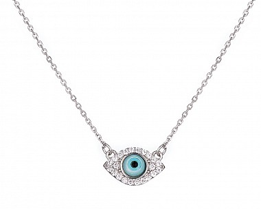 Dainty Sterling Silver Protective Eye Necklace