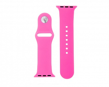 Hot Pink Silicone Apple Watch Band