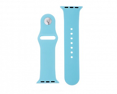 Soft Blue Silicone Apple Watch Band