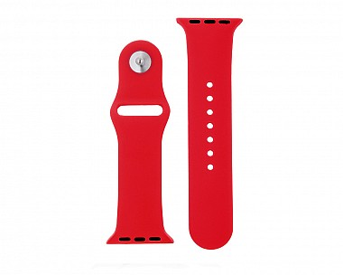 Cherry Red Silicone Apple Watch Band