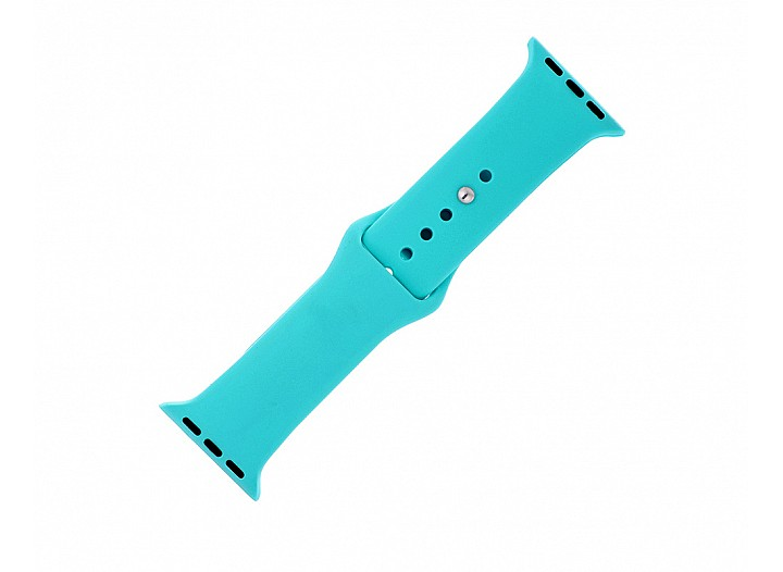 Totally Turquoise Silicone Apple Watch Band
