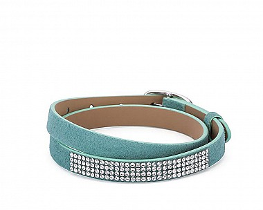 Stylish Light Teal Suede Wrap Bracelet