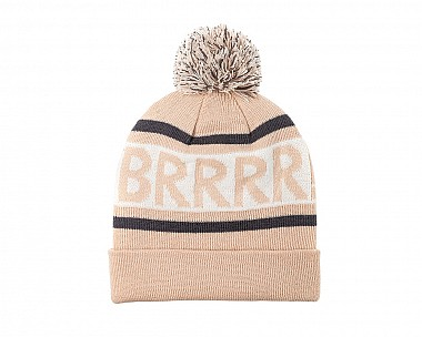 BRRR  Pink and Grey Knitted Beanie