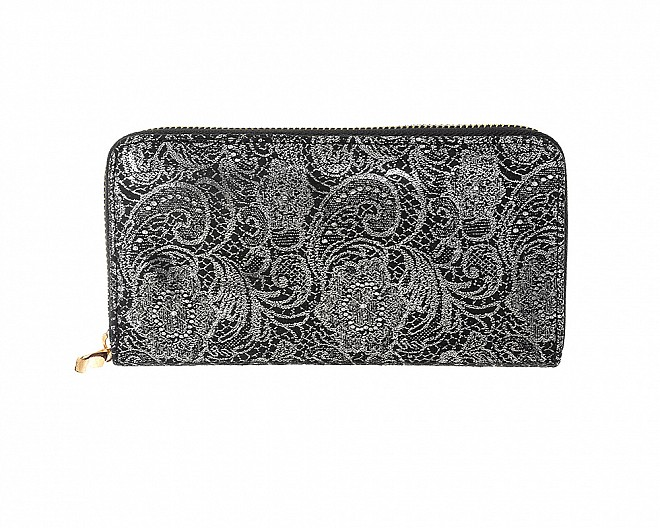 Chic and Pretty Paisley Zip Around Wallet