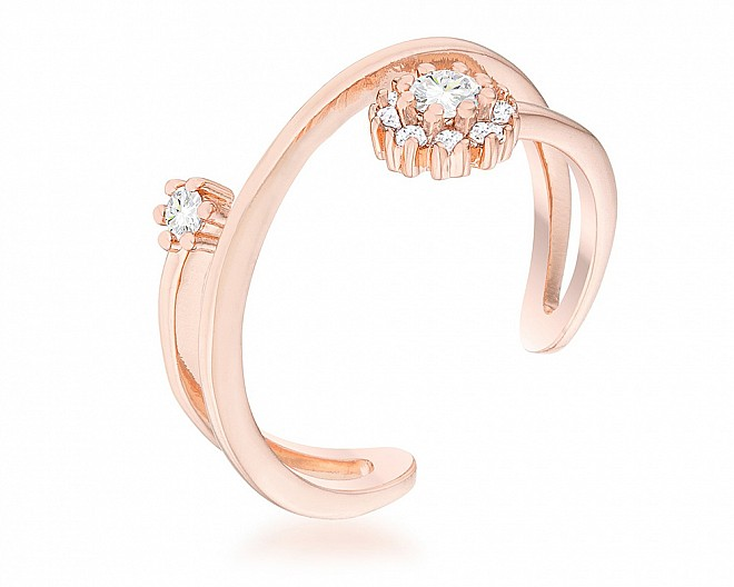Clare Rose Gold Tone Constellation Wrap Ring