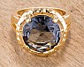 Salma Gold Tone Topaz Statement Ring