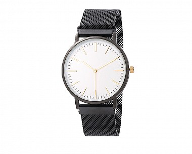 Black Magnetic Mesh Watch