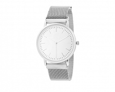 Silver Magnetic Mesh Watch