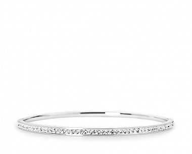 Martina Silvertone Crystal Bangle