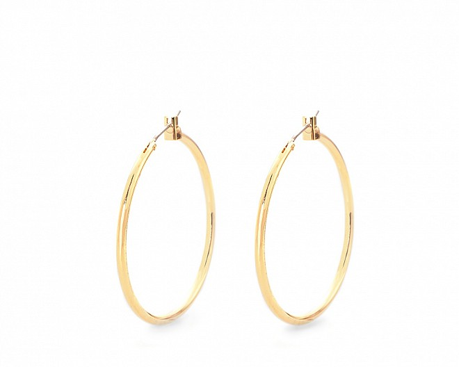 Lucia Gold Tone Large Hoop Earrings