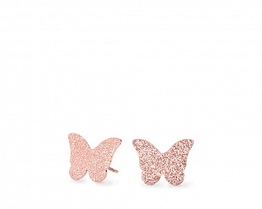 Isabella Rose Gold Tone Butterfly Stud Earrings