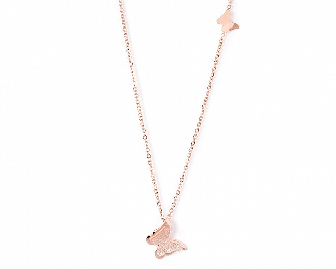 Sienna Rose Gold Tone Butterfly Necklace