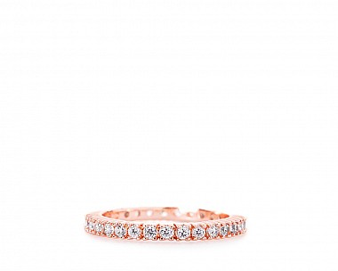 Ines Rose Gold Tone CZ Delicate Eternity Ring