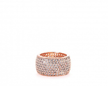 Abella Rose Gold Tone Pave Statement Ring