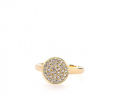 Ingrid Gold Tone Pave Circle Ring