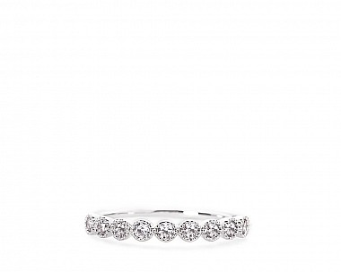 London Silvertone Delicate CZ Eternity Band