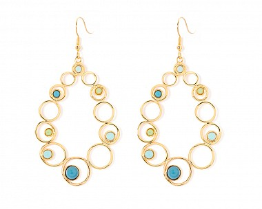 Esmeralda Multicolor Teardrop Earrings