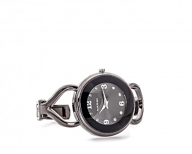Reagan Hematite Statement Cuff Watch