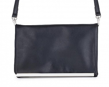 Cindy Black Leather Purse Clutch